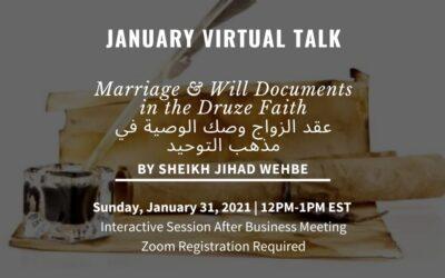 January Virtual Talk